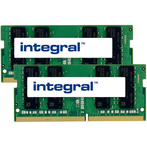 Integral 32GB (2x16GB) 2400MHz DDR4 SODIMM Laptop Memory Module Kit