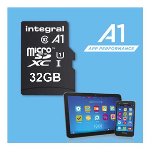 Integral 32GB A1 App Performance Micro SD Card (SDHC) - 45MB/s