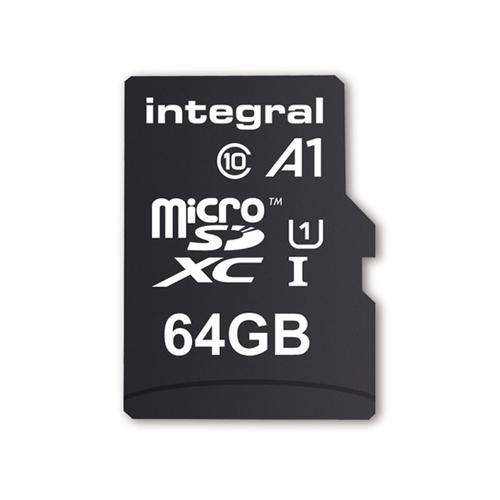 Integral 64gb A1 Micro Sd Karte Sdxc Uhs I U1 Adapter 45mbs