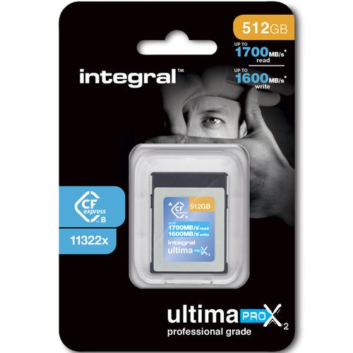 Integral 512GB UltimaPro X2 CFExpress Cinematic Memory Card Type B 2.0