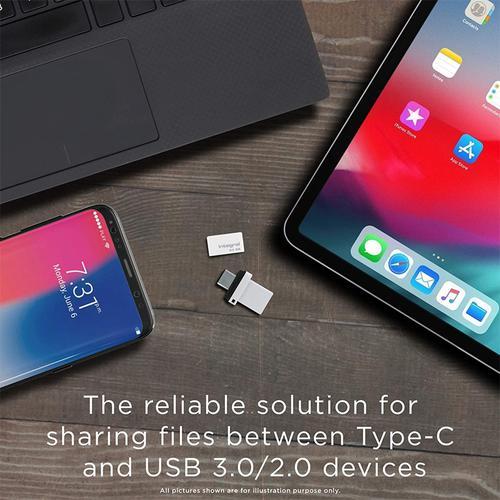 Integral 128GB Fusion Dual USB-C & USB 3.1 Flash Drive - 200MB/s