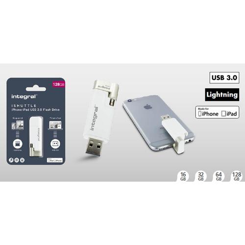 Integral 128GB iShuttle iPhone-iPod USB 3.0 Flash Drive