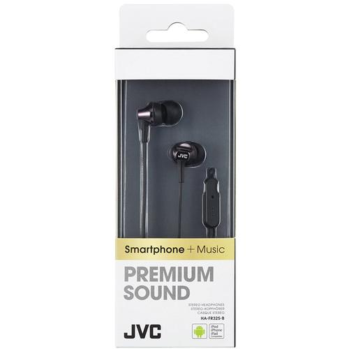 JVC Premium Sound In Ear Headphones with Remote &  Mic - Black