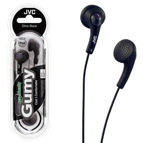 JVC Gumy Bass Boost Stereo In-Ear Headphones - Black
