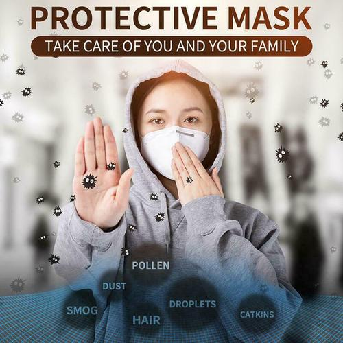 KN95 Disposable Face Mask White - 10 Pack