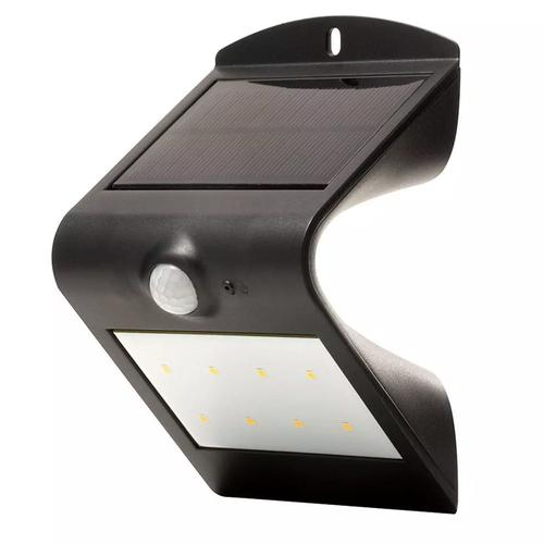 Luceco Solar Guardian Wall Light With PIR - Black (IP65)