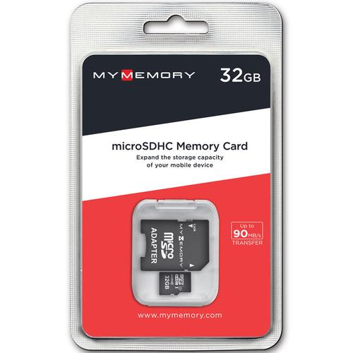 MyMemory 32GB Micro SD Card (SDHC) UHS-I U1 + Adapter - 90MB/s
