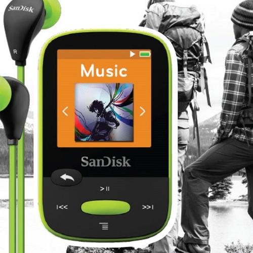 SanDisk 8GB Clip Sport MP3 Player - Lime