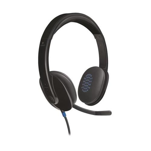 Logitech H540 USB PC Headset HD Audio + Noise-Cancelling Mic