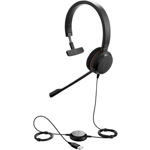 Jabra Evolve 20 UC Corded Mono Headset with Microphone