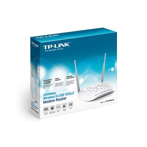 TP-Link TD-W9970 300Mbps Wireless N USB VDSL2 Modem Router (White) - V1