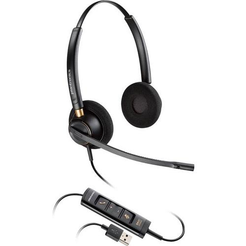 Plantronics EncorePro HW525 USB 3In1 Over-the-Head Stereo Corded Headset with Noise Canceling Mic