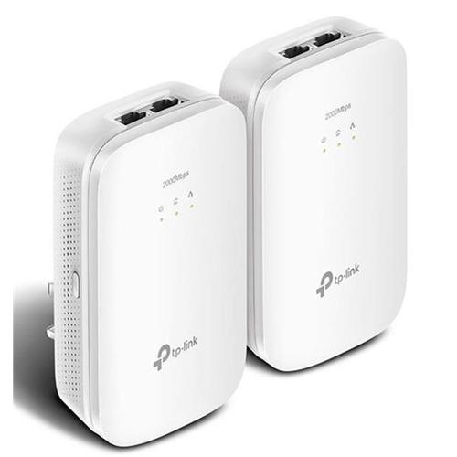 TP-Link AV2000 TL-PA9020 2000Mbps 2-Port Gigabit Powerline Starter Kit White (Twin Pack)