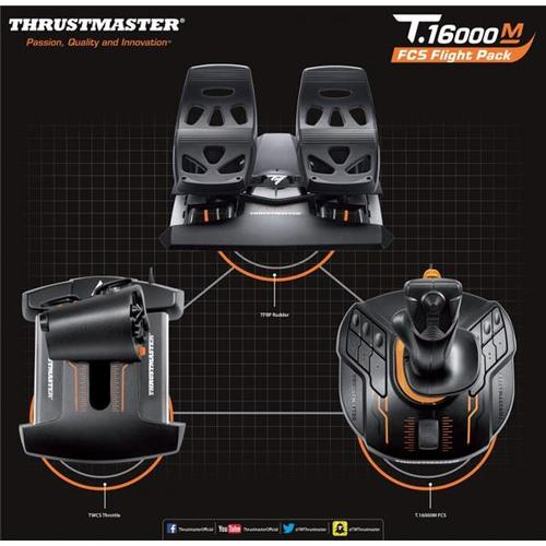 Thrustmaster T 16000M FCS FLIGHT PACK Includes Joystick/Throttle/Rudder  Pedals