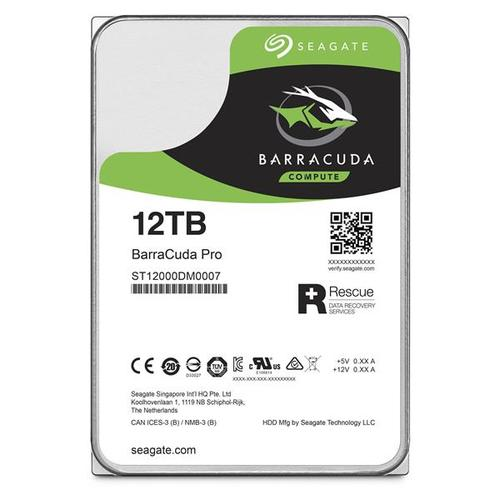 "Seagate BarraCuda Pro 12TB 3.5"" HDD SATA 6Gb/s 256MB Internal"