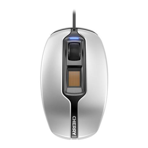 CHERRY MC 4900 Wired FingerTIP ID Mouse (Silver/Black)