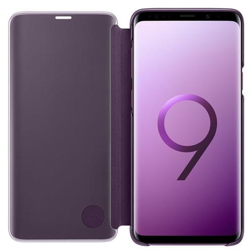Samsung Clear View Standing Cover (Purple) for Samsung Galaxy S9+ Smartphones