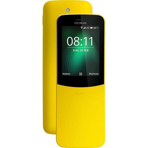 Nokia 8110 4G (2.45 inch) 4GB 2MP Smartphone (Yellow)