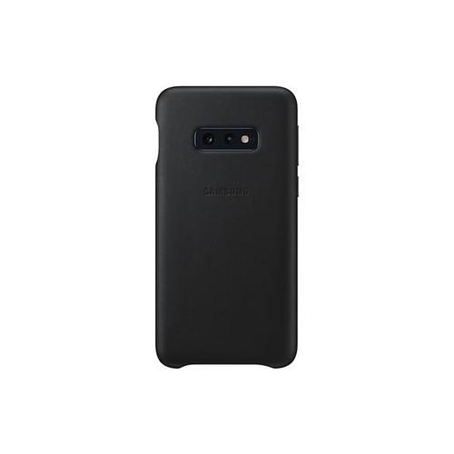 Samsung Galaxy S10e Leather Cover - Black