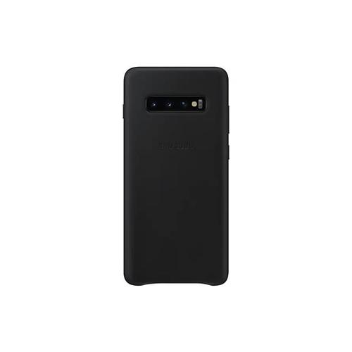 Samsung Galaxy S10+ Leather Cover - Black