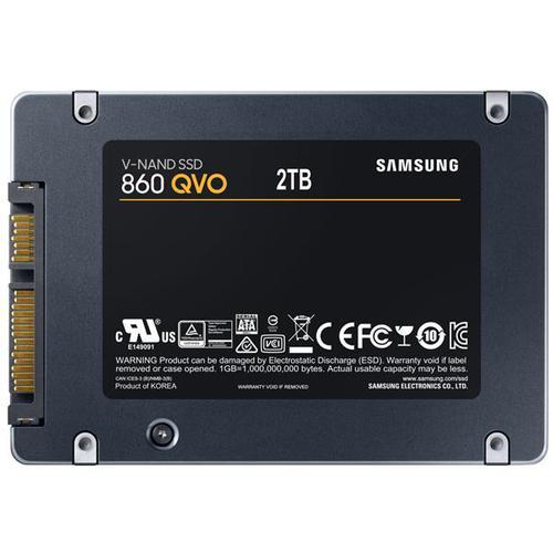 """Samsung QVO 860 2TB SATA 2.5"""" 6Gb/s Internal Solid State Drive - 550MB/s"""