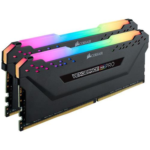 Corsair VENGEANCE RGB PRO 32GB (2x16GB) 2666MHz DDR4 Non-ECC 288-Pin CL16 DIMM PC Memory Module - Black