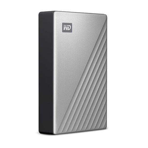 "WD 4TB My Passport Ultra USB-C 2.5"" Portable Hard Drive External Mac (Silver)"