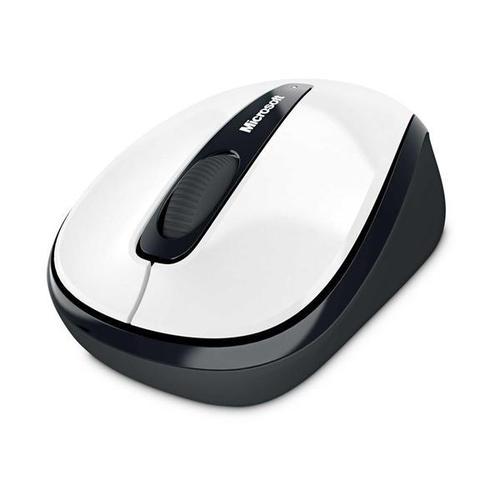 Microsoft Wireless Mobile BlueTrack Mouse 3500 White Gloss