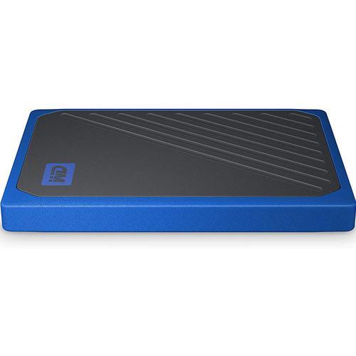 WD 500GB My Passport Go Portable SSD Drive - Black/Blue