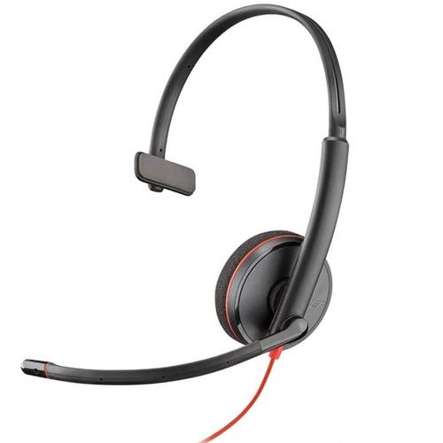 Plantronics Blackwire C3210 PC Headset Mono Mic USB Corded - Black