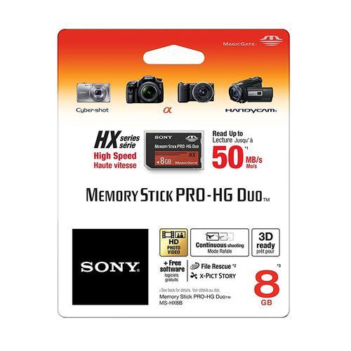 Sony 8GB Memory Stick PRO-HG Duo HX - 30MB/s