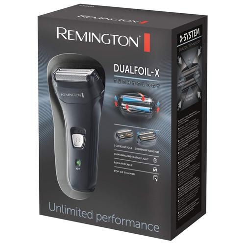Remington F3800-X Dual Foil Rechargeable Electric Shaver Trimmer - Black