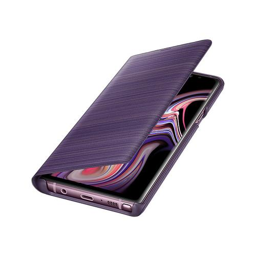 Samsung Galaxy Note 9 LED Wallet Cover - Lavender Purple