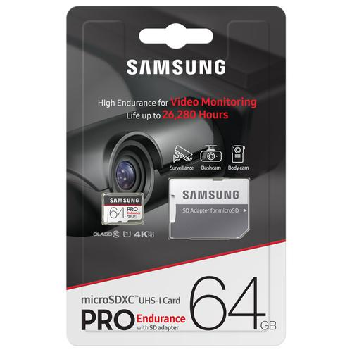 samsung 64gb pro endurance micro sd card sdxc sd. Black Bedroom Furniture Sets. Home Design Ideas