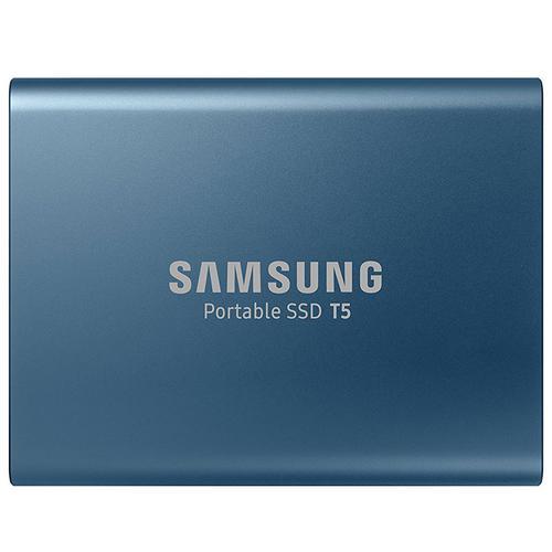 Samsung 500GB T5 USB 3.1 & USB-C External V-Nand Solid State Drive - Blue - 540MB/s