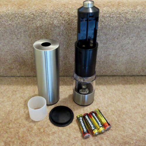 Salter Salt & Pepper Stainless Steel Electronic Mill Set