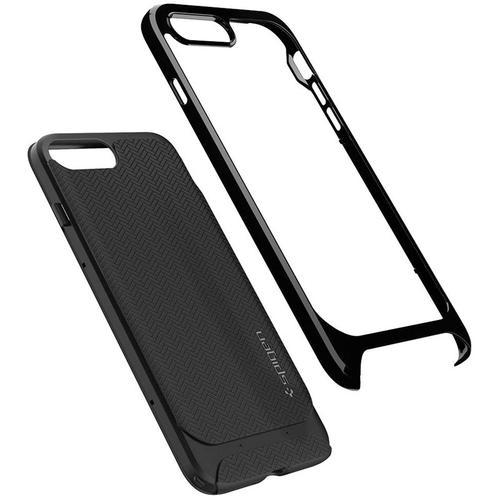 pretty nice 5633d 7df76 Spigen iPhone 8 Plus Case Neo Hybrid Herringbone - Shiny Black ...