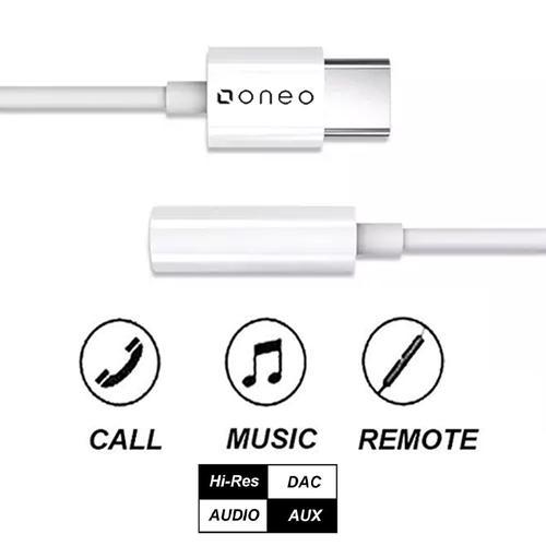 oneo USB-C to 3.5mm Headphone Jack Adapter - FFP