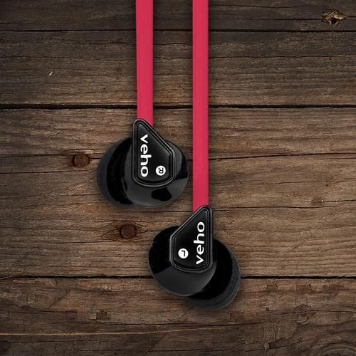 Veho Z-1 In-Ear Noise Isolating Headphones (Red)