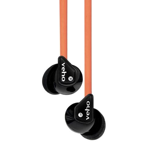 Veho Z-1 In-Ear Noise Isolating Headphones (Orange)