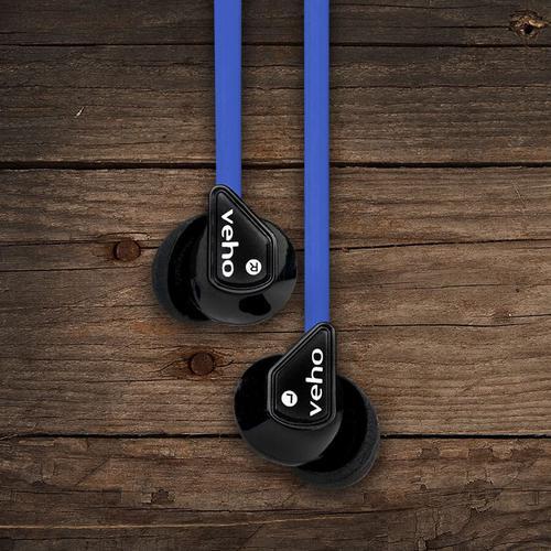 Veho Z-1 In-Ear Noise Isolating Headphones (Blue)