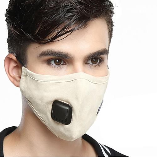 Washable KN95 Mask with PM2.5 Filter - Beige
