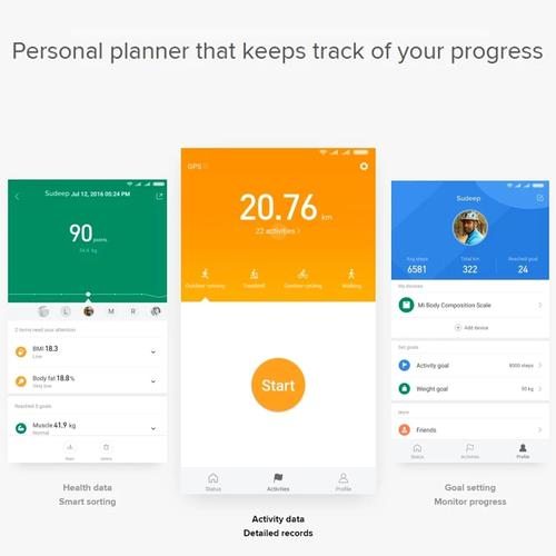 Xiaomi Mi Smart Bluetooth Body Composition Scale V2 - White