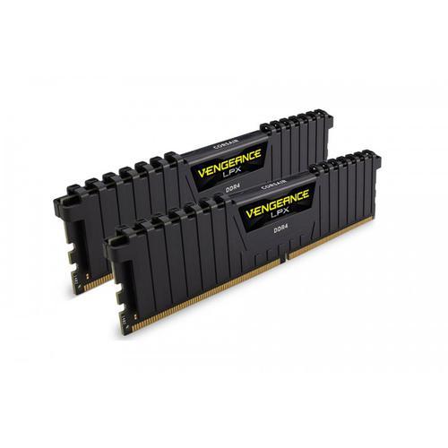 Corsair Vengeance LPX 16GB (2 x 8GB) Memory Kit PC 3000MHz DDR4 DIMM C16 (Black)