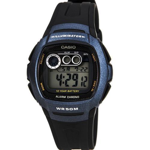 Casio Mens Digital Resin Strap Watch - Black (W210-1BVES)