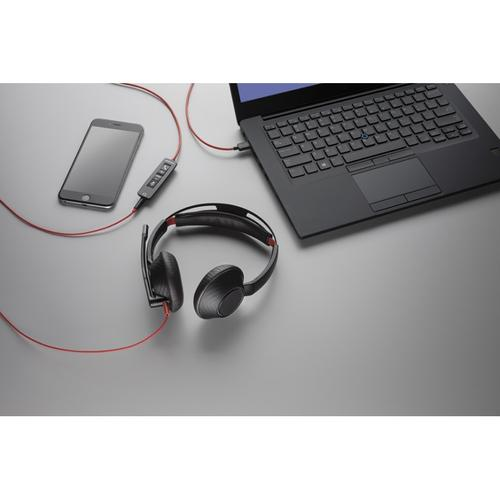 Plantronics Blackwire 5220 Corded USB-A Headset (Black) with 3.5mm Connection