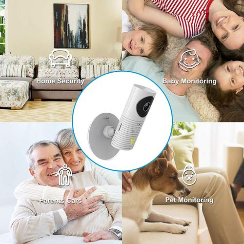 Clever Dog Panorama 180 ° View HD Home Security Camera - White