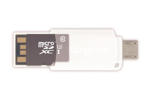 Integral USB Micro SDHC / Micro SDXC OTG Card Reader