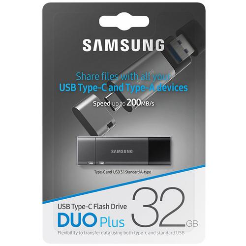 Samsung 32GB Duo Plus USB-C 3.1 Flash Drive - 200MB/s