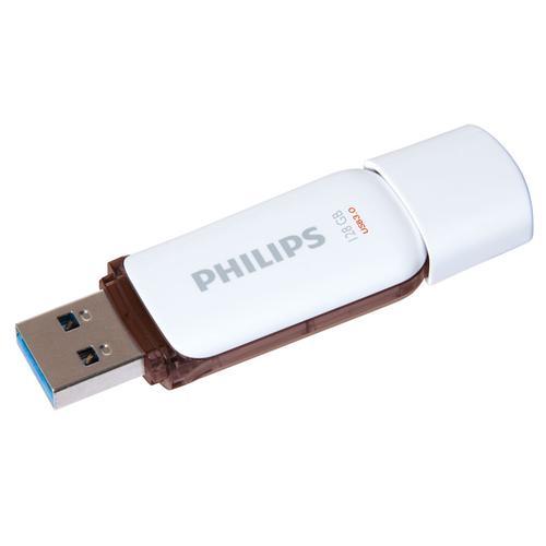 Philips 128GB Snow USB 3.0 Flash Drive 10MB/s - Brown